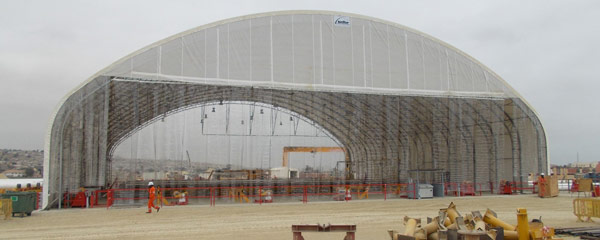 Fabric Structures as Construction Shelters