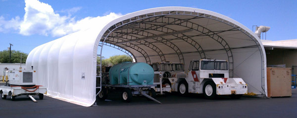 Fabric Shelters for Equipment Storage