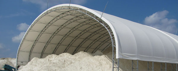 Fabric Shelters for Salt and Sand Storage