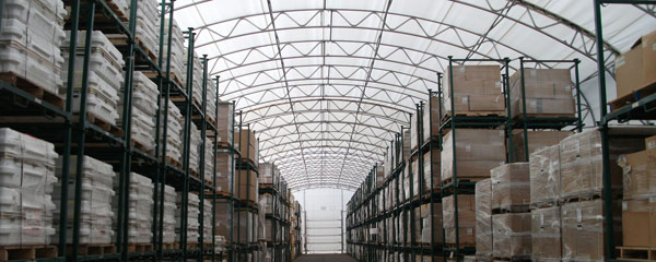 Warehousing Bulk Storage Fabric Structures from Big Top