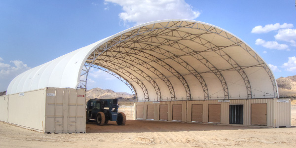 Big Top Shelters : Foundation anchors big top fabric structures