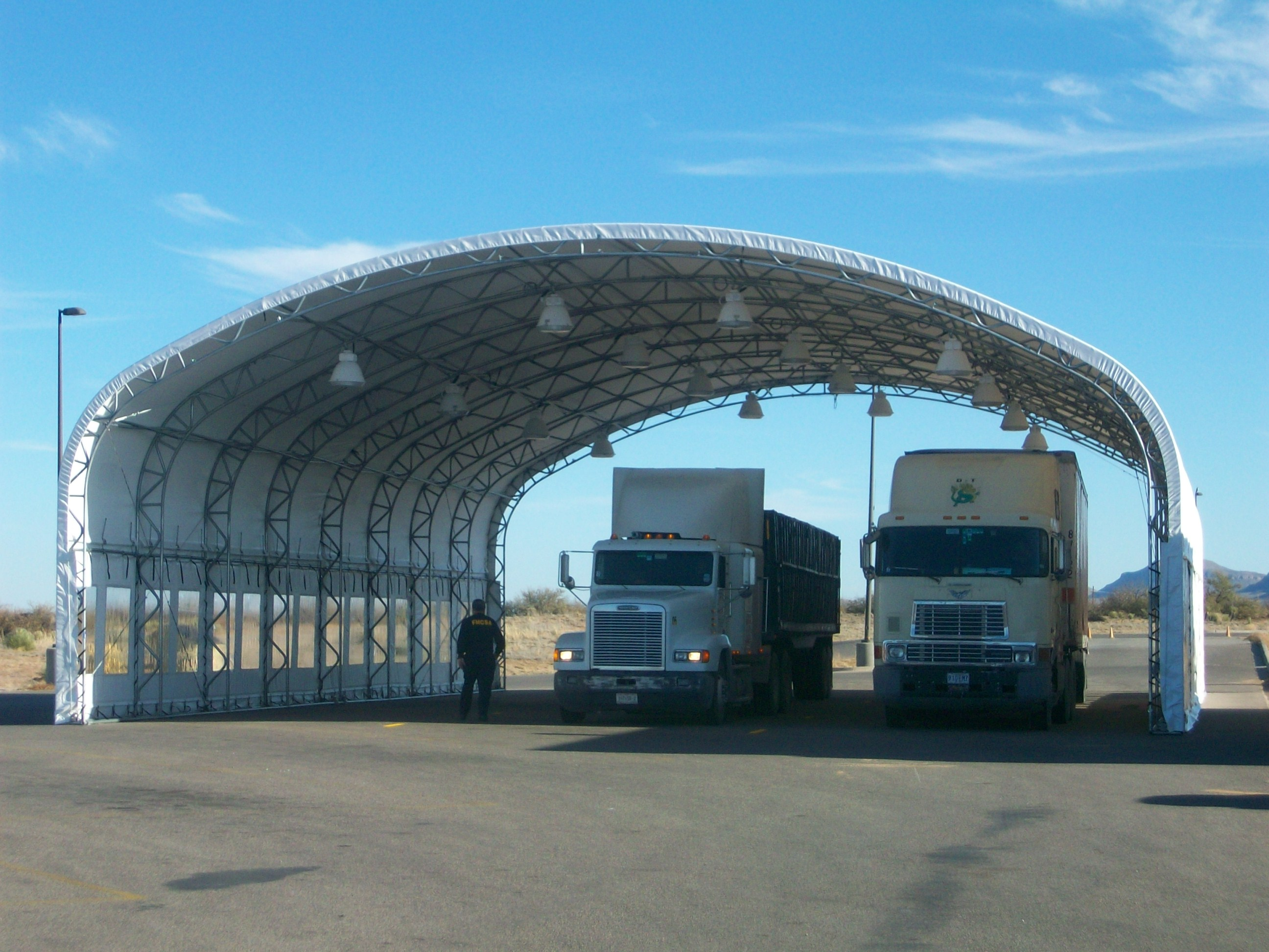 Big Top Shelters : Vehicle inspection shelters government big top