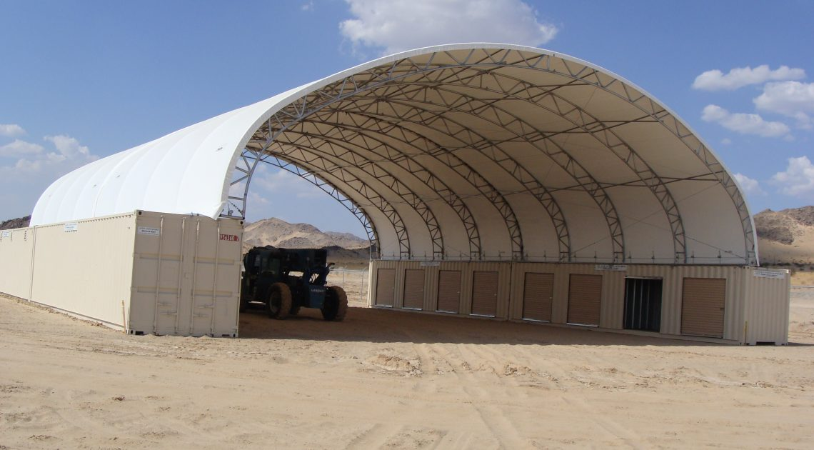 Container Mounted Fabric Structures Big Top