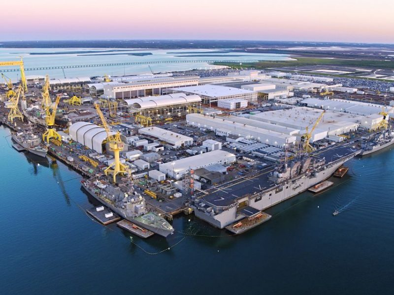 Large-Scale Rolling Covers Improved Production for Huntington-Ingalls Industries, America's Largest Military Shipbuilding Company